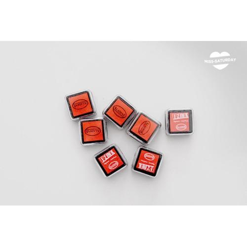 Tinta rojo anaranjado