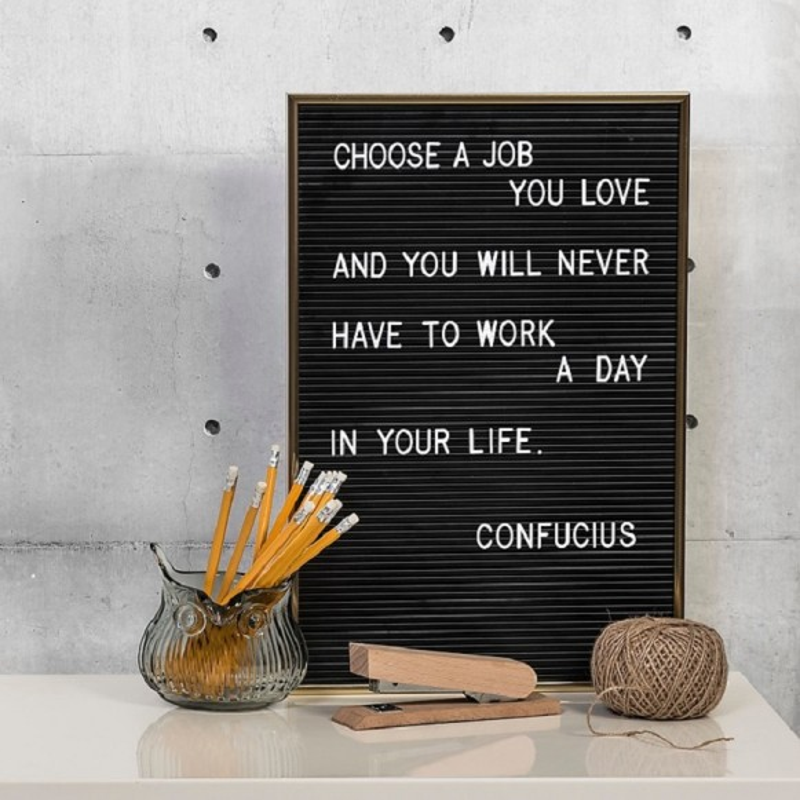 Tablero con letras Letter board
