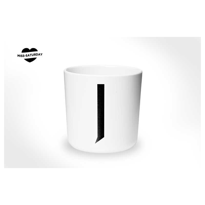 Vaso melamina - Letra J