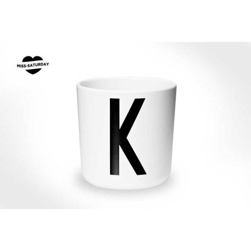 Vaso melamina - Letra K