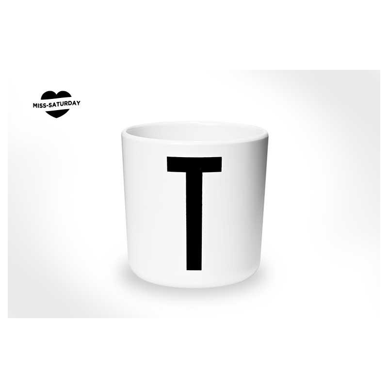 Vaso melamina - Letra T