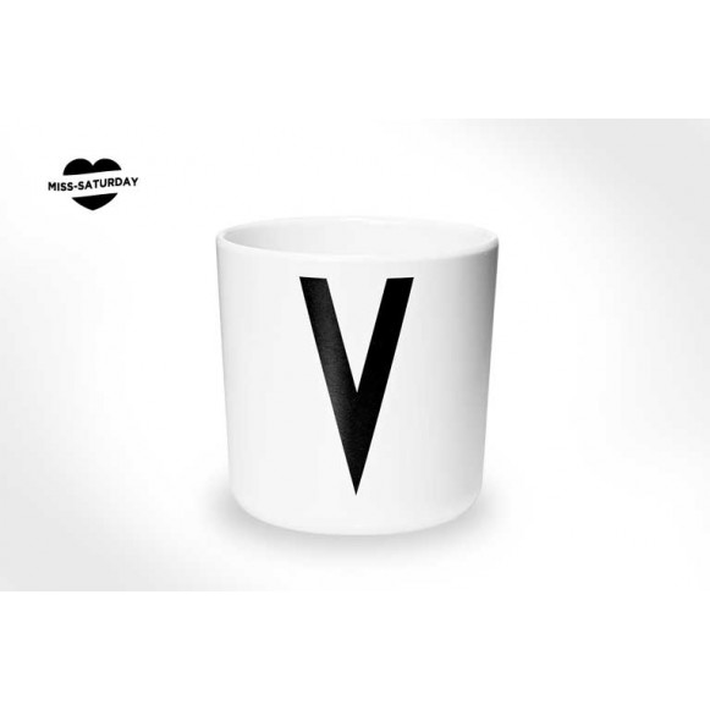 Vaso melamina - Letra V