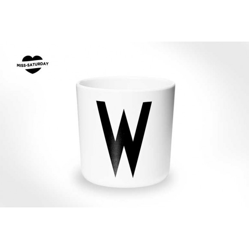 Vaso melamina - Letra W