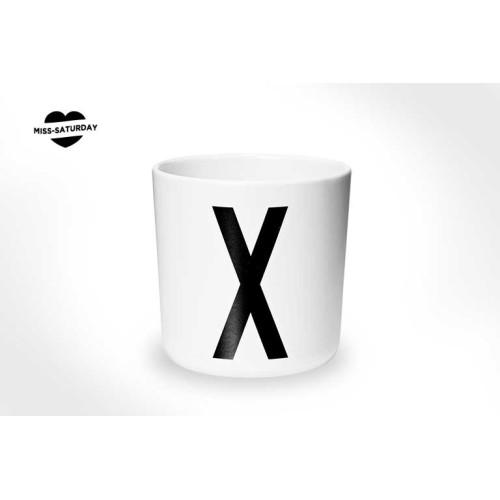 Vaso melamina - Letra X