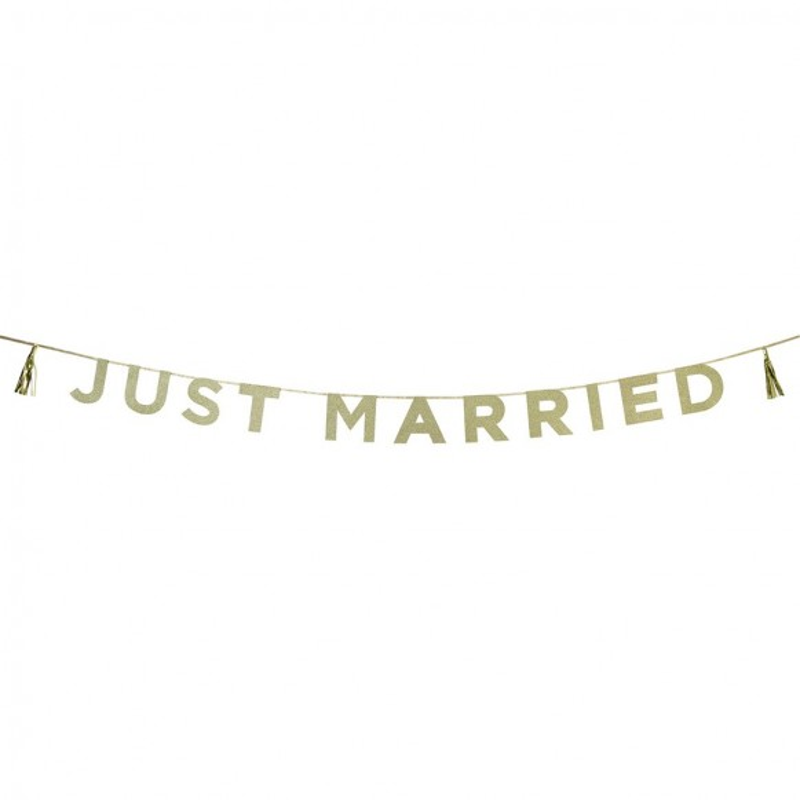 Guirnalda Just Married Purpurina