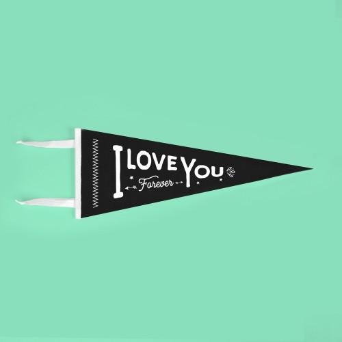 Banderín I love you