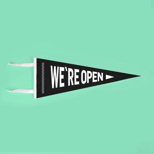 Banderín We are Open