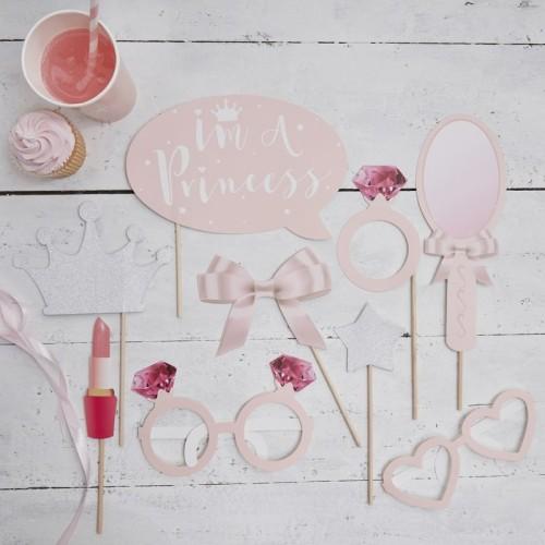 9 palillos Photocall Princesa