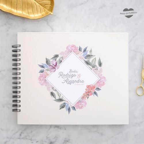 Álbum personalizado flores