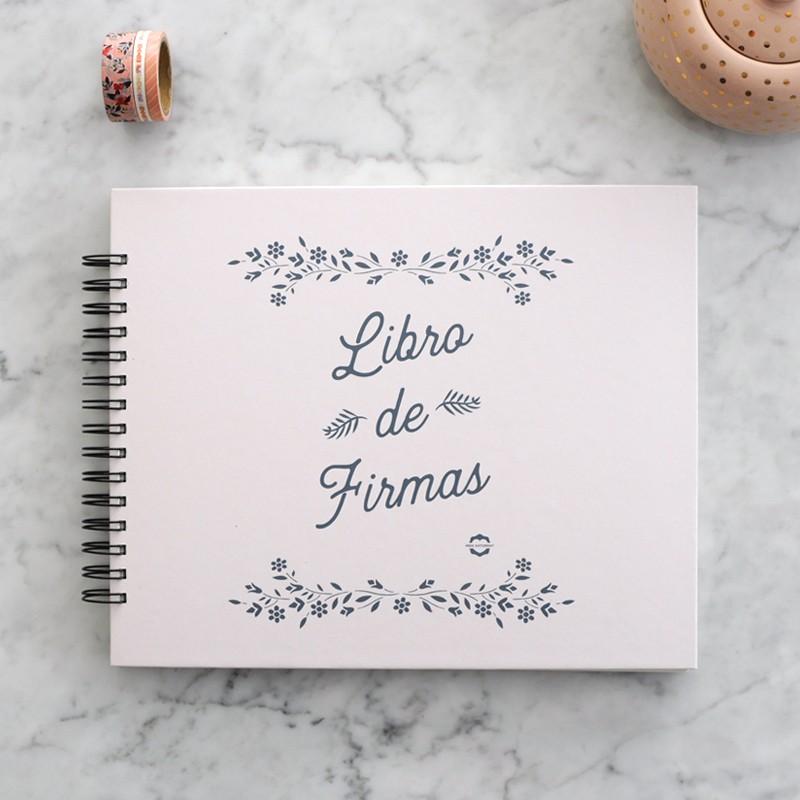 Álbum Fleurs rosa palo