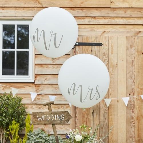 Dos globos gigantes Mr Mrs