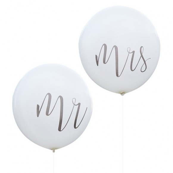 Dos globos gigantes Mr Mrs