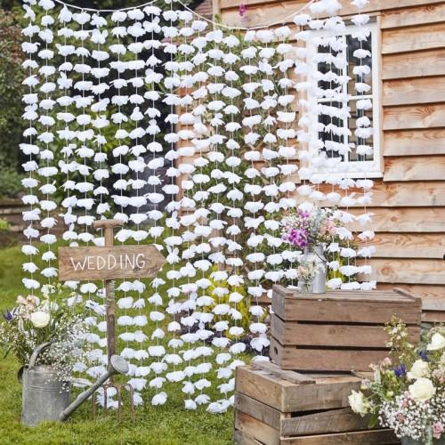 Fondo de flores blancas