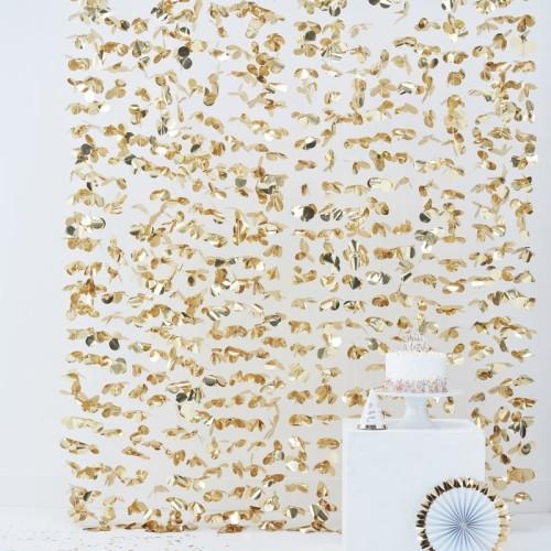 Fondo de flores doradas