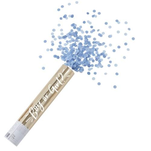 Cañon de confetti niño celeste XL