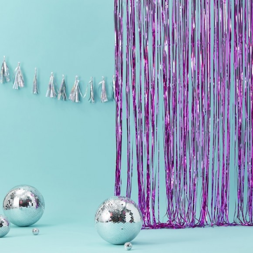 Cortina de tiras foil violeta