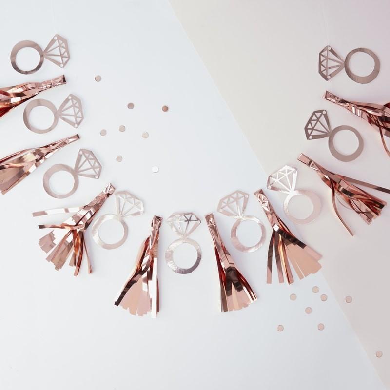 Guirnalda Diamante oro rosa