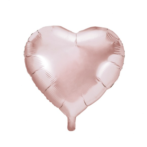 Globo corazón oro rosa