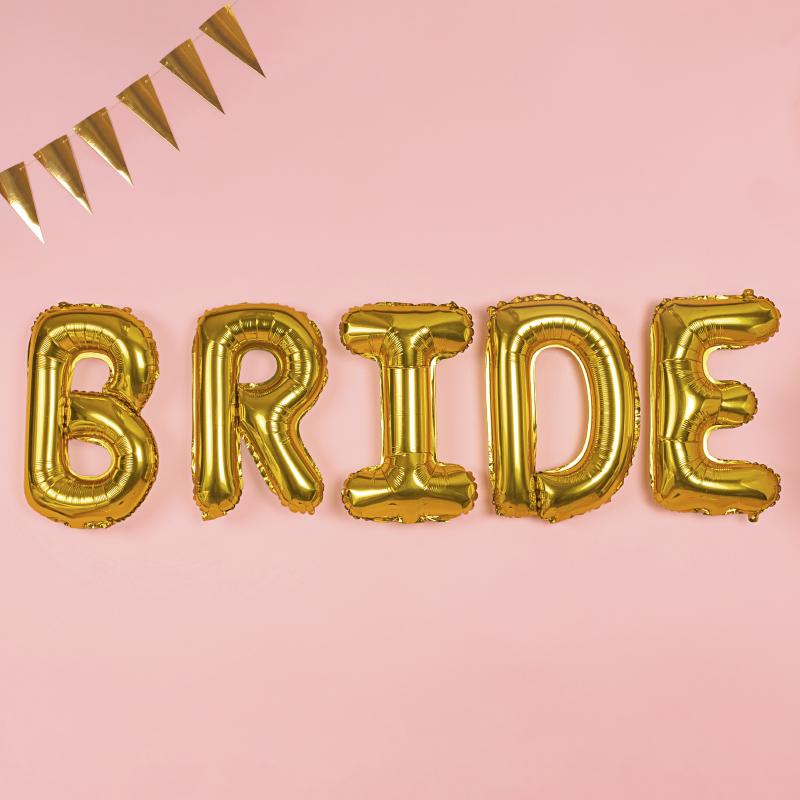 Globo letras BRIDE dorado