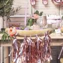 Guirnalda Tassel oro rosa