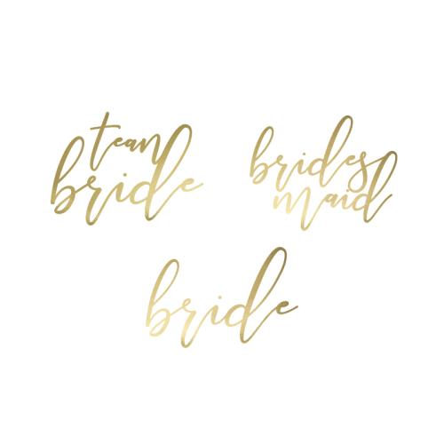 15 Tatuajes Bride y Team B. script dorado