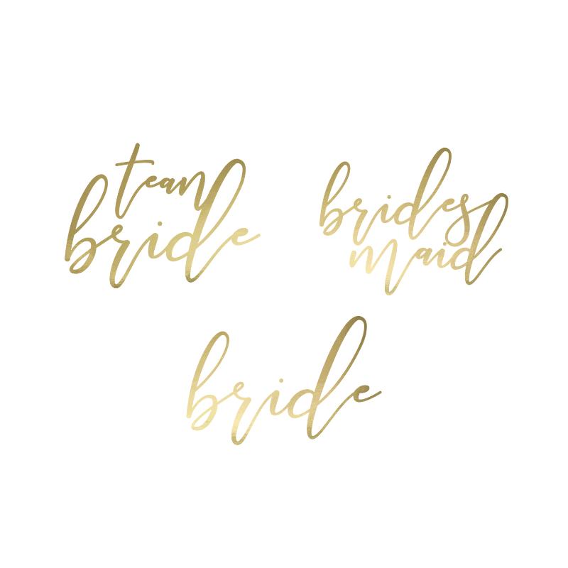 15 Tatuajes Bride y Team B. dorado