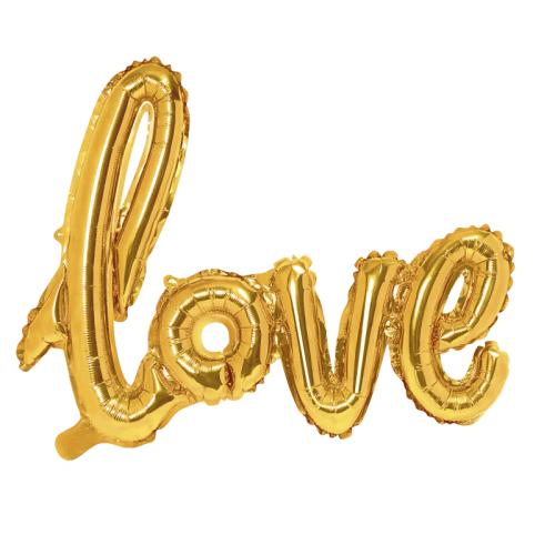 Globo Love dorado