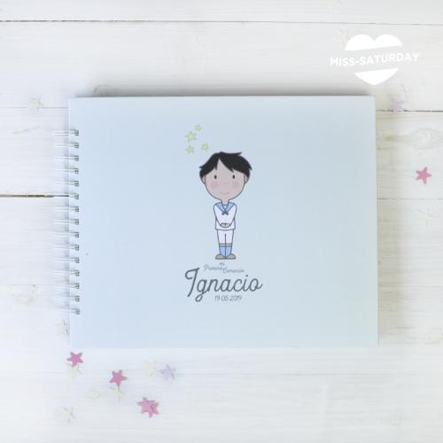 Álbum personalizado Comunión Niño