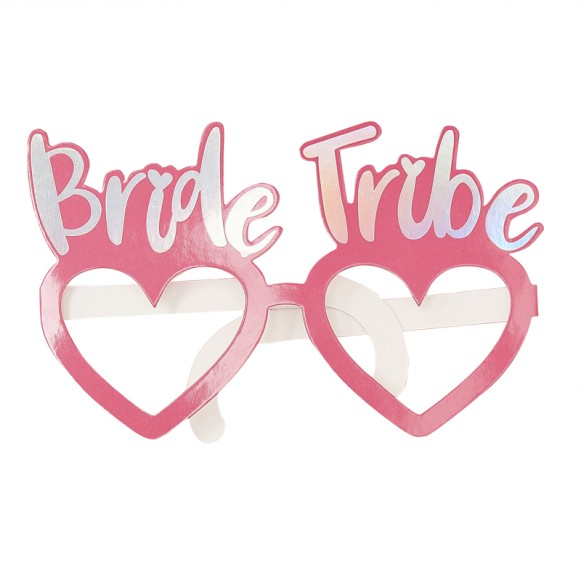 8 Gafas Rosa Team Bride