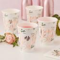 8 Vasos Team Bride Floral