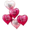 Globos Bride Tribe Rosa e Iridiscentes
