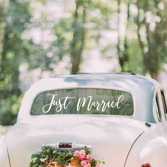 Vinilo para coche Just Married