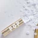 Mini Cañón confeti blanco - Blanco