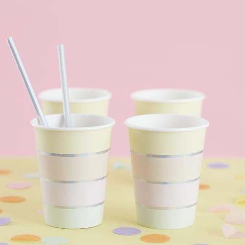 8 Vasos Pastel