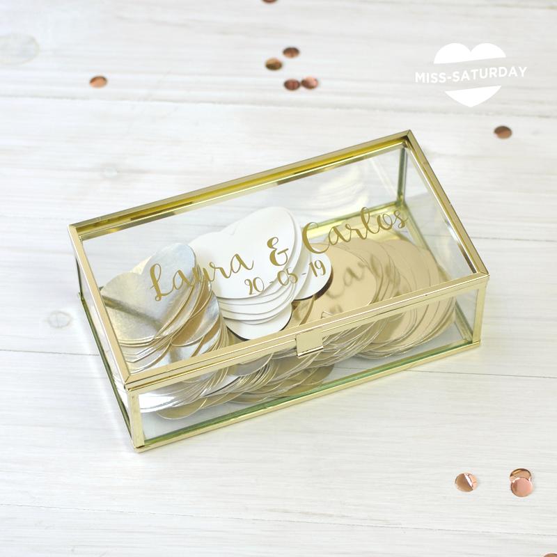 caja de firmas personalizable boda