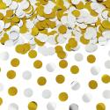 Cañón confeti dorado y plata