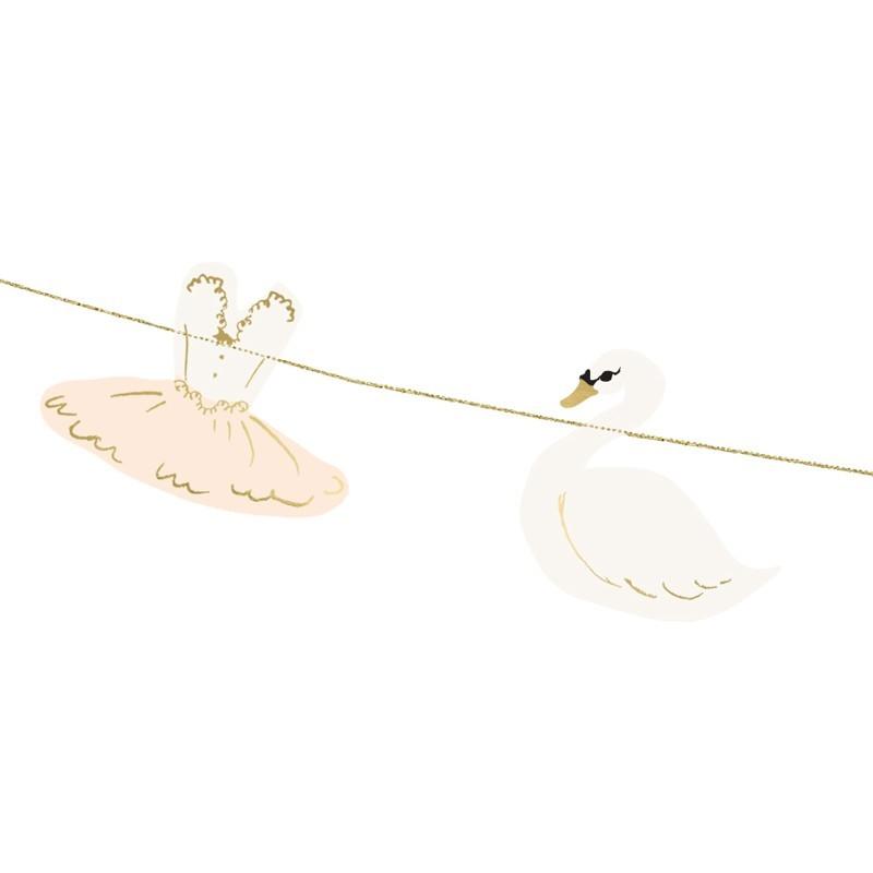 Guirnalda bailarinas y cisnes