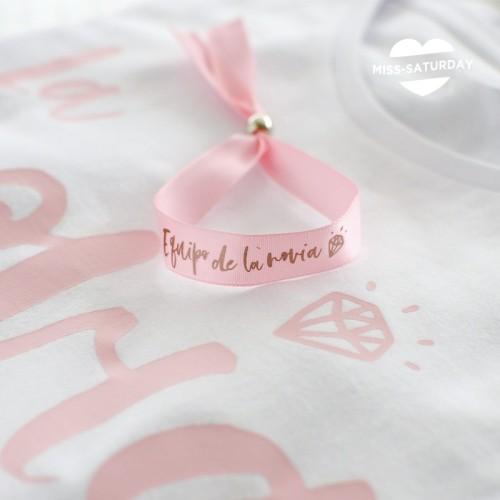 Pulsera rosa Equipo de la novia