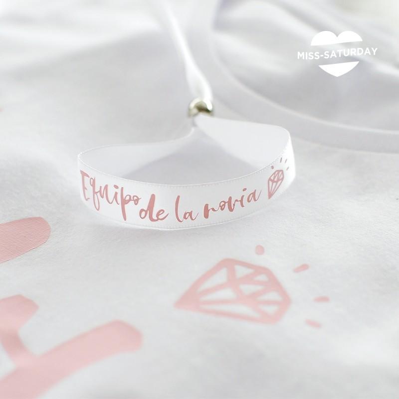 Pulsera blanca Equipo de la novia