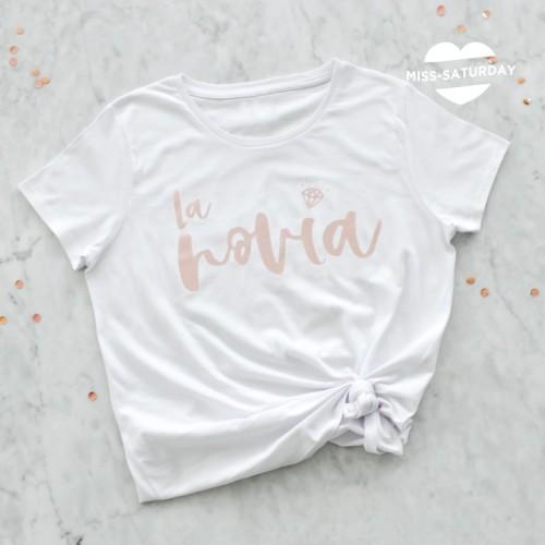 Camiseta La novia - Oro Rosa