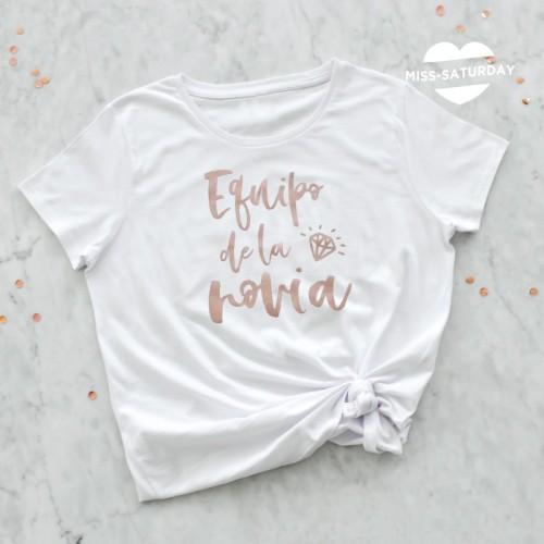 Camiseta Equipo de la novia - Oro rosa