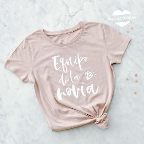 Camiseta Rosa Nude Equipo de la novia