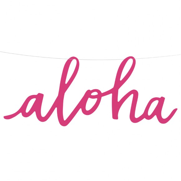 Letrero aloha - decorar fiesta tropical