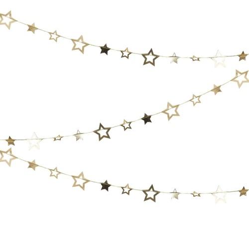 Guirnalda estrellas dorado Bubbly