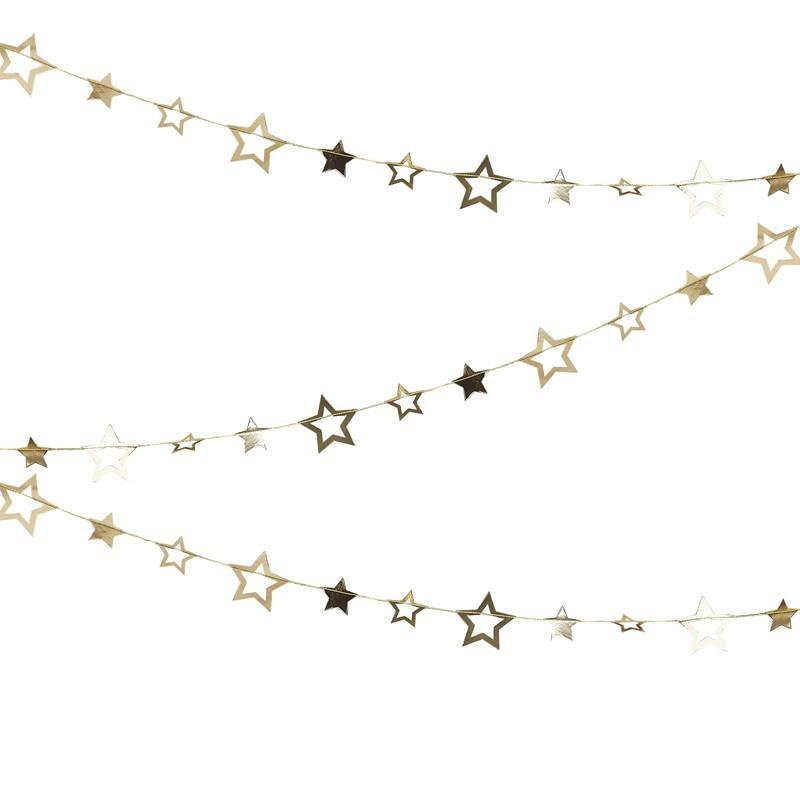 Guirnalda estrellas dorada