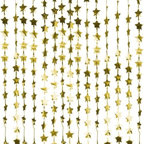 Cortina de estrellas doradas