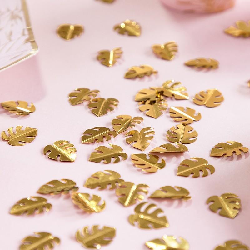 Confetis costilla de Adán dorado