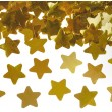 Cañón confeti estrellas dorado