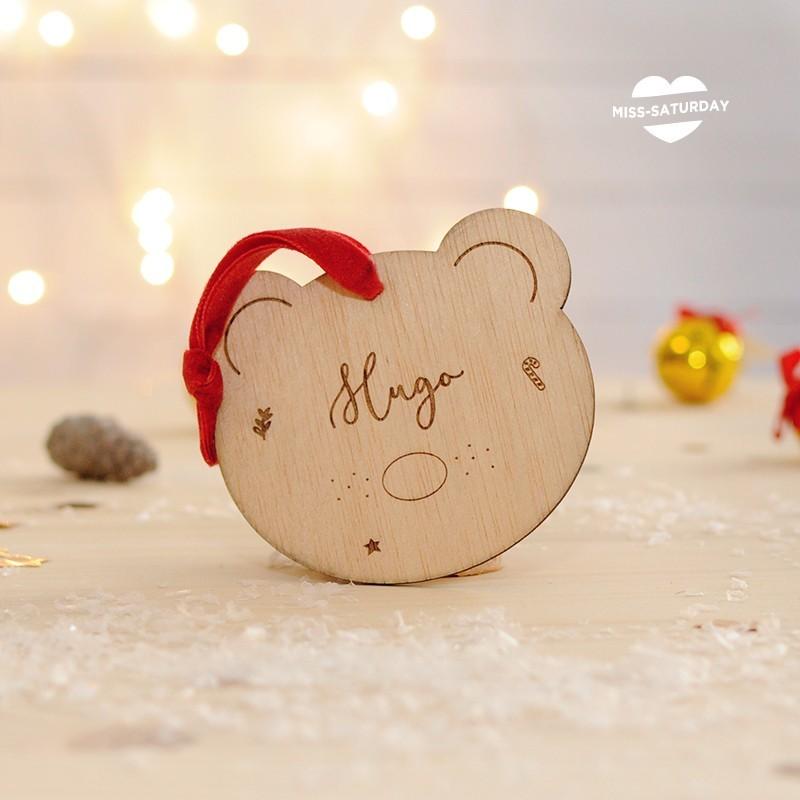 Bola Navidad Personalizada - Osito