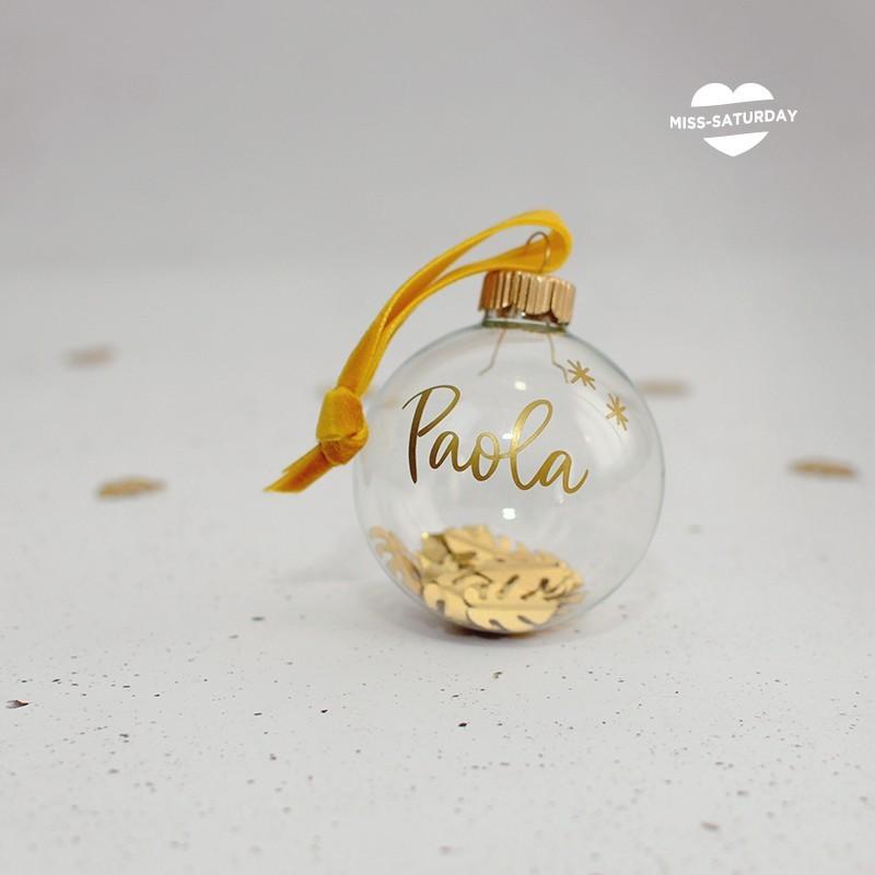 Bola Navidad vidrio - Nombre